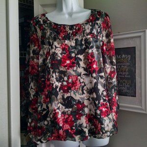 Alyx Floral Flared Sleeve Blouse Large